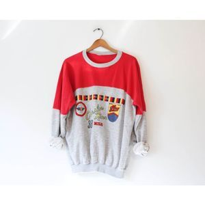 Vintage White Water Rafting School Sweatshirt